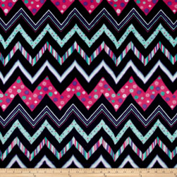 Shannon Minky Cuddle Chic Zag Navy Fabric