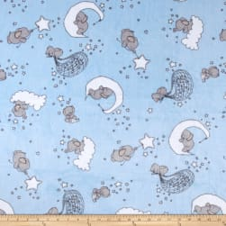 Shannon Sweet Melody Designs Minky Cuddle Dream Big Baby Blue