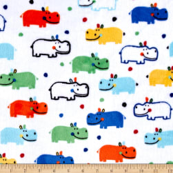 Shannon Kaufman Minky Cuddle Happy Hippo Multi Fabric