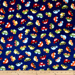Shannon Kaufman Minky Cuddle Honk! Royal Fabric