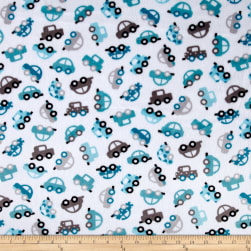 Shannon Kaufman Minky Cuddle Honk! Teal Fabric