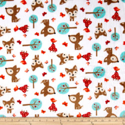Shannon Minky Cuddle Oh, Deer Snow Fabric