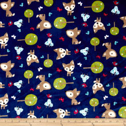 Shannon Minky Cuddle Oh, Deer Midnight Fabric
