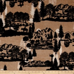 Shannon Studio Minky Cuddle Open Range Sand Fabric