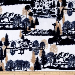 Shannon Studio Minky Cuddle Open Range Navy Fabric