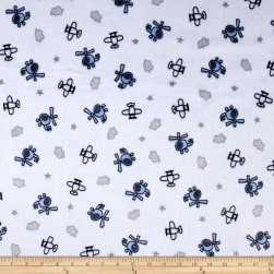 Shannon Minky Cuddle Sky Captain Navy Fabric