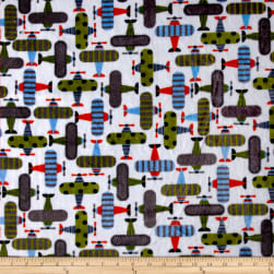 Shannon Kaufman Minky Cuddle Take Off Kiwi Fabric