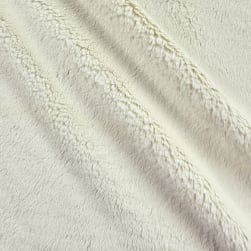 Shannon Minky Luxe Cuddle Velvet Ivory Fabric
