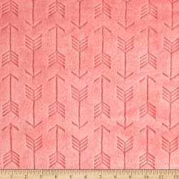 Shannon Minky Embossed Arrow Cuddle Coral Fabric
