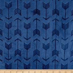Shannon Minky Embossed Arrow Cuddle Navy Fabric