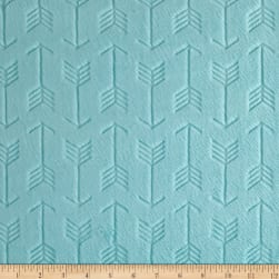 Shannon Minky Embossed Arrow Cuddle Saltwater Fabric