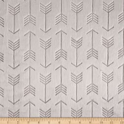 Shannon Minky Cuddle Embossed Arrow Steel Fabric
