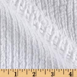 Shannon Minky Luxe Cuddle Chenille Snow White Fabric
