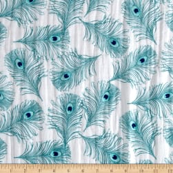Shannon Embrace Double Gauze Plumage Teal Fabric