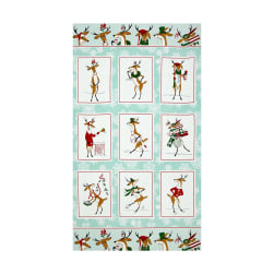 Where's Rudolph? 24 In. Panel Aquablue