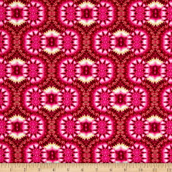 Kanvas Bohemian Rhapsody Mirage Fuschia Metallic Fabric