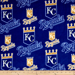 MLB Kansas City Royals Fleece Blue Fabric