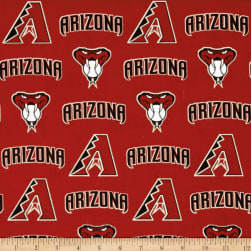 Arizona Diamondbacks Cotton Broadcloth Crimson Fabric