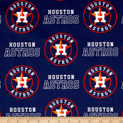 Houston Astros Cotton Broadcloth Navy Fabric