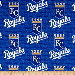 Kansas City Royals Cotton Broadcloth Blue Fabric