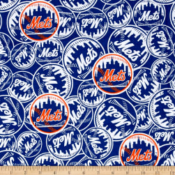 MLB New York Mets Cotton Broadcloth Fabric