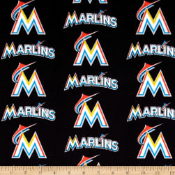 Miami Marlins Cotton Broadcloth Multi Fabric