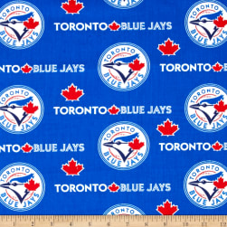 Toronto Blue Jays Cotton Broadcloth Blue