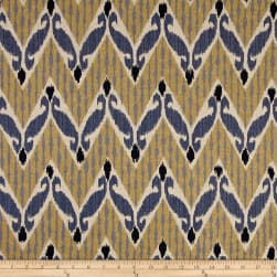 Lacefield Zig Zag Indian Blue Fabric