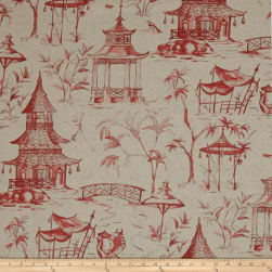 Lacefield Pagodas Coral Fabric