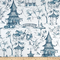 Lacefield Pagodas Seaside Fabric