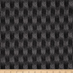 Meadow Storm Chevron Black Fabric