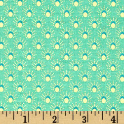 Meadow Storm Sun Shower Dots Green Fabric