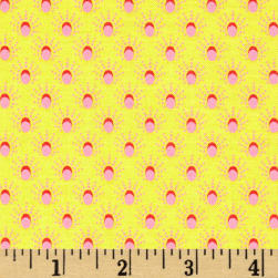 Meadow Storm Sun Shower Dots Yellow Fabric