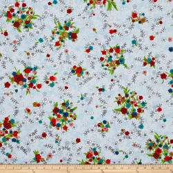 Meadow Storm Perennial Blue Fabric