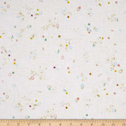 Meadow Storm Misty White Fabric