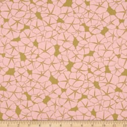 Meadow Storm Starflower Pink Fabric