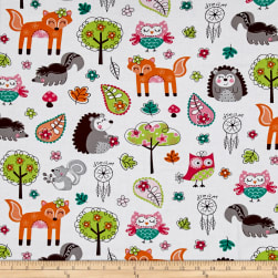 Woodland Gypsy Collage White