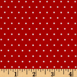 Marcus Grumpy Cat Dots Red Fabric