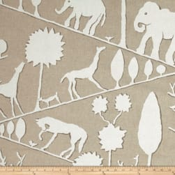 Braemore Jungle Walk Linen Blend Natural Fabric