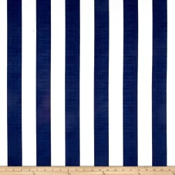 Richloom Solarium Outdoor Classic Stripe Navy Fabric