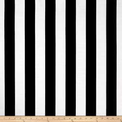 Richloom Solarium Outdoor Classic Stripe Black Fabric