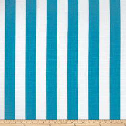 Richloom Solarium Outdoor Classic Stripe Turquoise Fabric