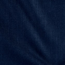 Waverly Circa Solid Indigo Linen Fabric