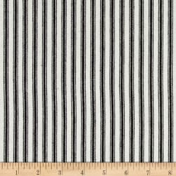 Waverly Classic Ticking Black Fabric