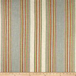 Waverly Stripe Ensemble Robins Egg Blue Linen Fabric