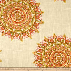 Richloom Margarita Linen Blend Orange Fabric