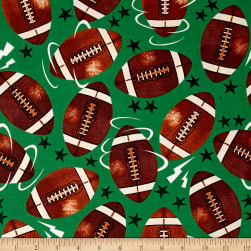 Allstars Football Green Fabric