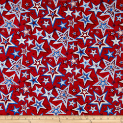 Marblehead Valor Multi Star Red Fabric