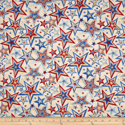 Marblehead Valor Multi Star Beige Fabric