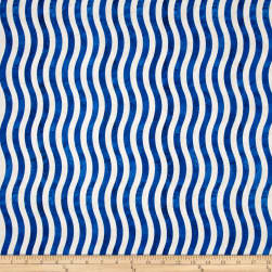 Marblehead Valor Wavy Stripe Blue/White Fabric
